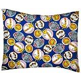 SheetWorld Crib / Toddler Baby Pillow Case - Flannel Pillow Case - Safari Animal Circles - Made In USA