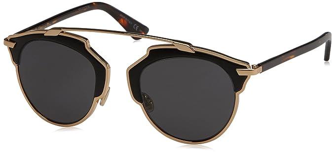e194a16b6a Amazon.com  Dior Women CD SO REAL S Gold Grey Sunglasses 48mm  Clothing