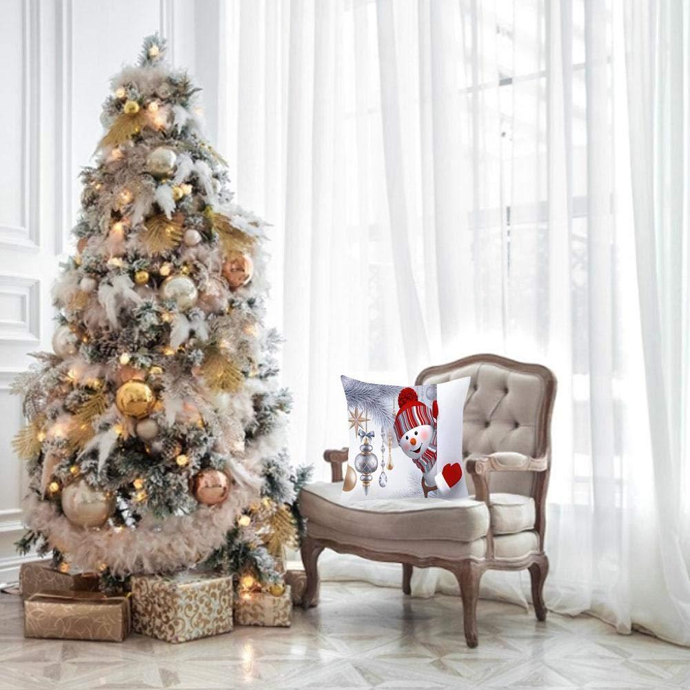 Motto.h Federa per cuscino natalizio Fodera per cuscino del divano per la decorazione della casa auto Federa del pupazzo di neve di Natale opportune