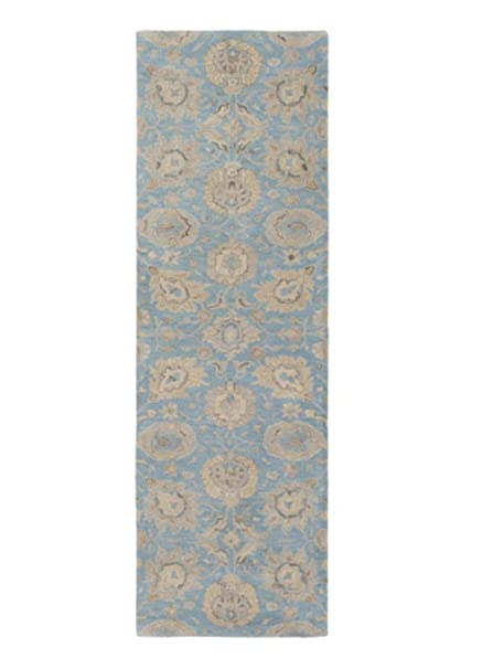 Superieur Amazon.com: Diva At Home 2.5u0027 X 8u0027 Floral Odyssey Light Cadet Blue And  Taupe Brown Hand Tufted Wool Area Throw Rug Runner: Kitchen U0026 Dining