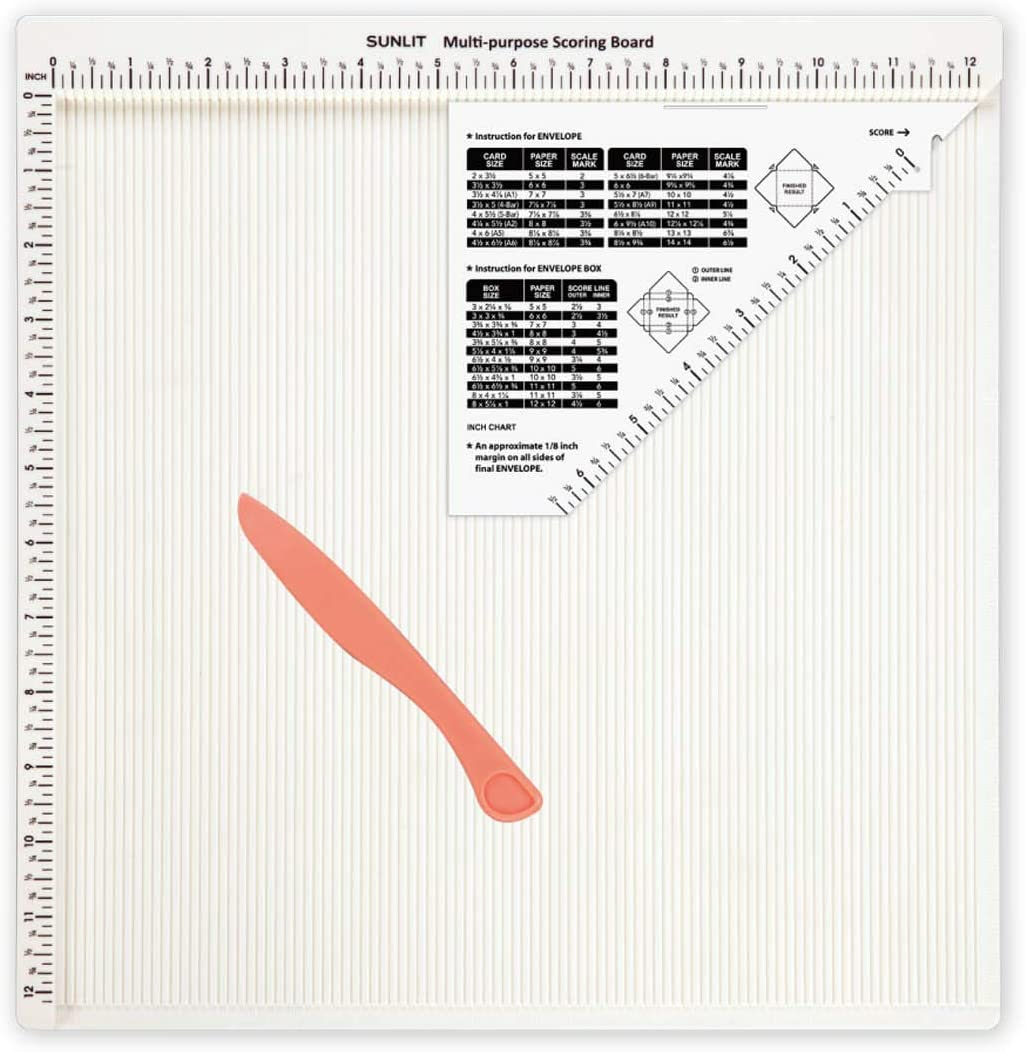 Bira Craft 12 X 12 inch Multi-Purpose Scoring Board & Score and Fold Tool, 5 7/8 inch (Scoring Board) 61vajDy-yRL