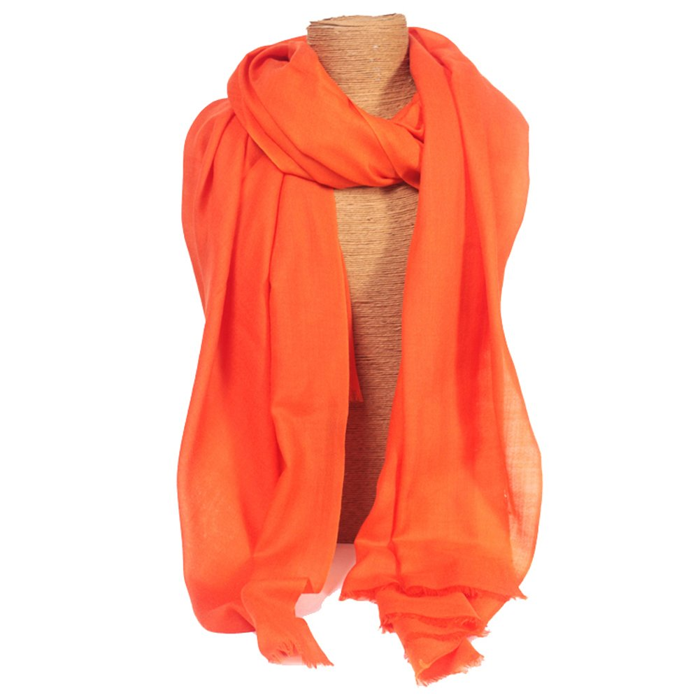 Women's Spring Autumn Summer New Style High Quality Woolen Shawl High Density Shawl Orange