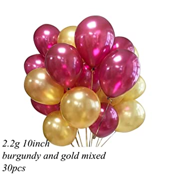 Amazon 30pcs 10inch 3 colors balloons for home wedding 30pcs 10inch 3 colors balloons for home wedding decoration bachelorette party supplies burgundy gold mixed junglespirit Choice Image