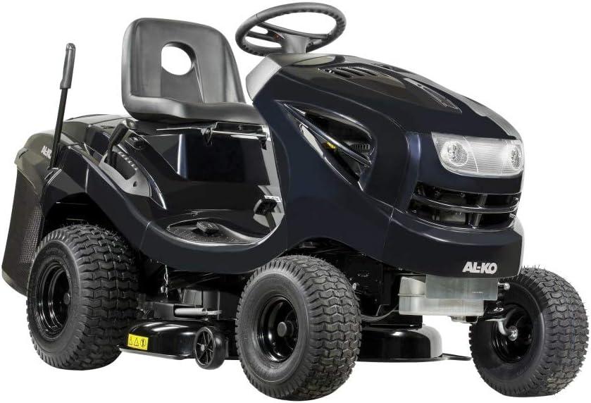 AL-KO Black Edition - Tractor de césped (5,8 kW de Potencia del Motor, 1 Cilindro de 352 CCM, Ancho de Corte, 93 cm de Ancho, Engranaje hidrostado, Caja de 220 L con