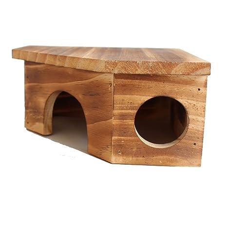 Diseño exquisito de casa de campo de madera de grano de grano de madera natural