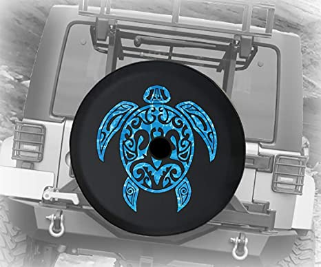 Jeep Wave Grill You Get it or You Dont Handprint Spare Jeep Wrangler Camper SUV Tire Cover Blue Ink 33 in Silver Back Covers 5558997256