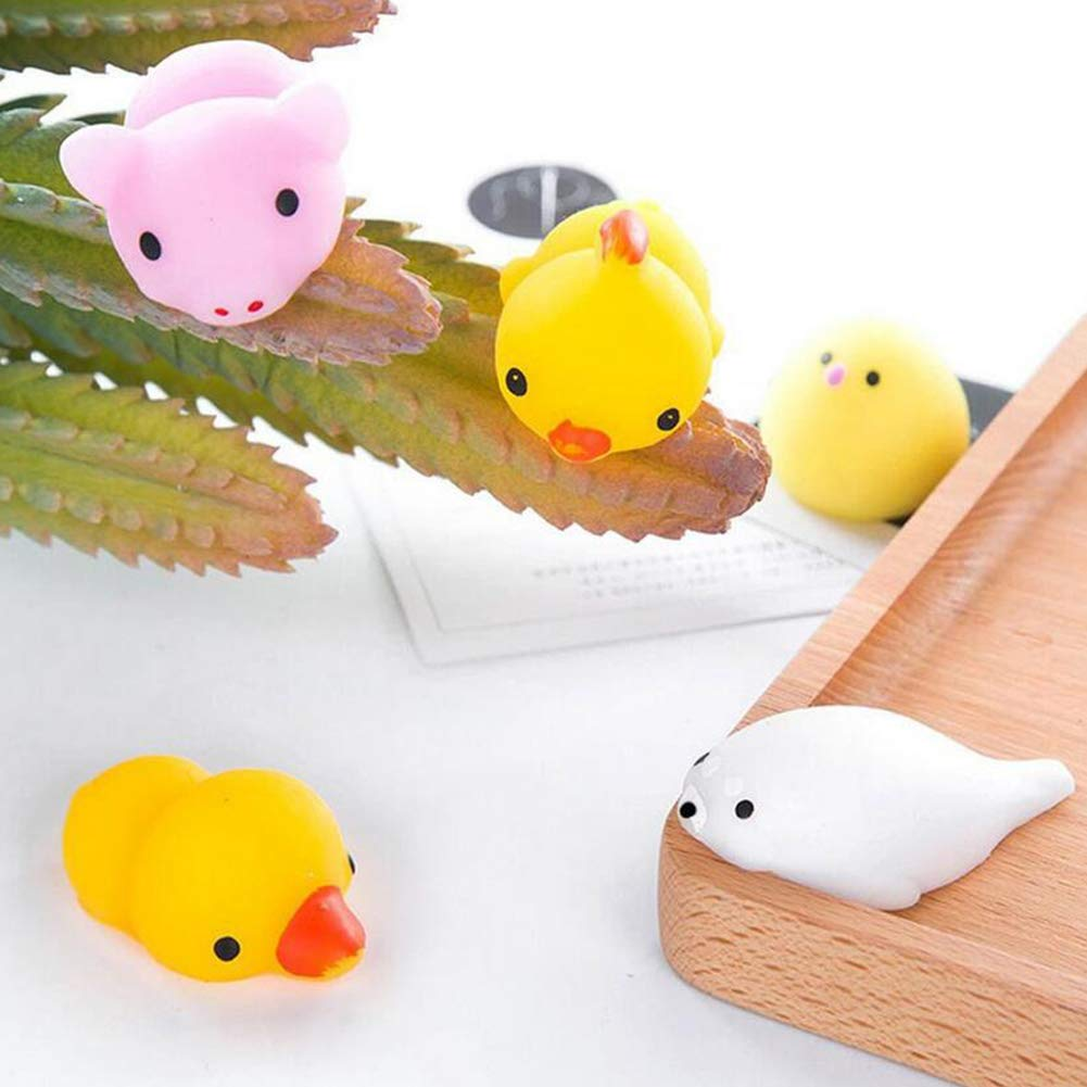 Nicedier-Tech 20Pcs Stress Relief Spielzeug Cute Animal Design Tier Squishy Spielzeug-reizende Squeeze Spielzeug f/ür Kinder Erwachsene