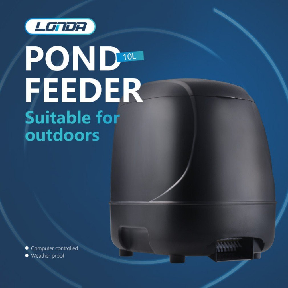 Automatic Fish Feeder Timer High Capacity Pond Fish Feeder Siutable for Outdoor