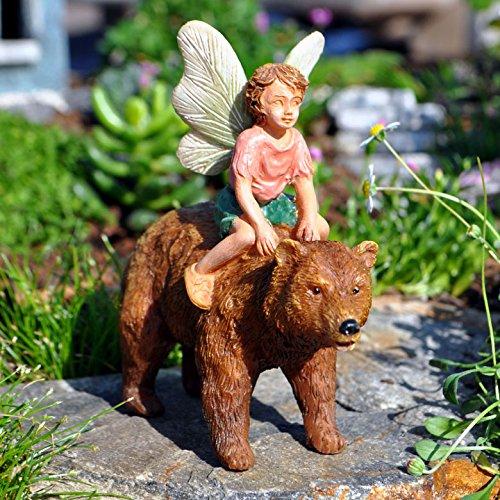 Miniature Garden Fairy and Bear - Polyresin Boy Bear Shopping Results