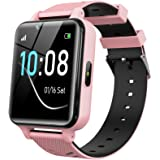 Kids Smartwatch for Boys Girls - Smart Watch for Kids Watches for 4-12 Years with 17 Puzzle Games Alarm Music Player Camera C
