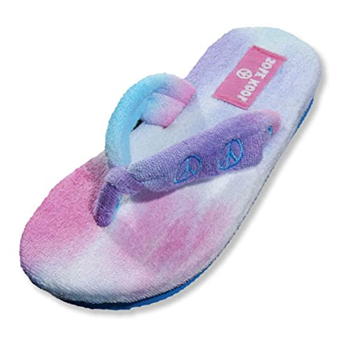 343c7bfe5 SOLE KOOL - Girls Terry Cloth Peace Flip Flop