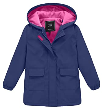 Amazon.com: ZSHOW Girl's and Boy's Outwear Lightweight Hooded ...