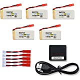 3.7V 800mAh Lipo Battery with X5 Charger for Holy Stone F181 F181C F181W Potensic F181DH JJRC H12C H12W RC Quadcopter 5 Pcs