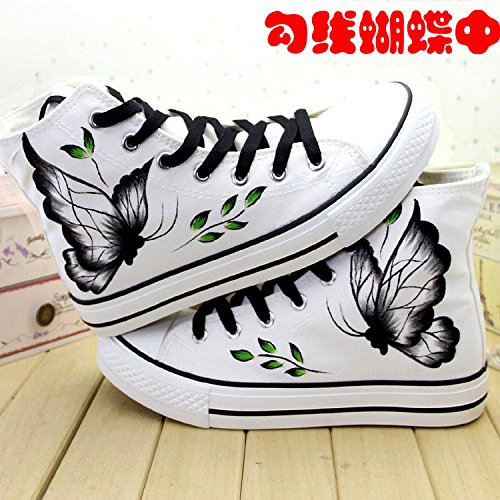 GUNAINDMXHand-Painted Shoes/Canvas/Shoes/Help/Spring/Casual Shoes/Shoes/Sports Shoes/A In the white hook
