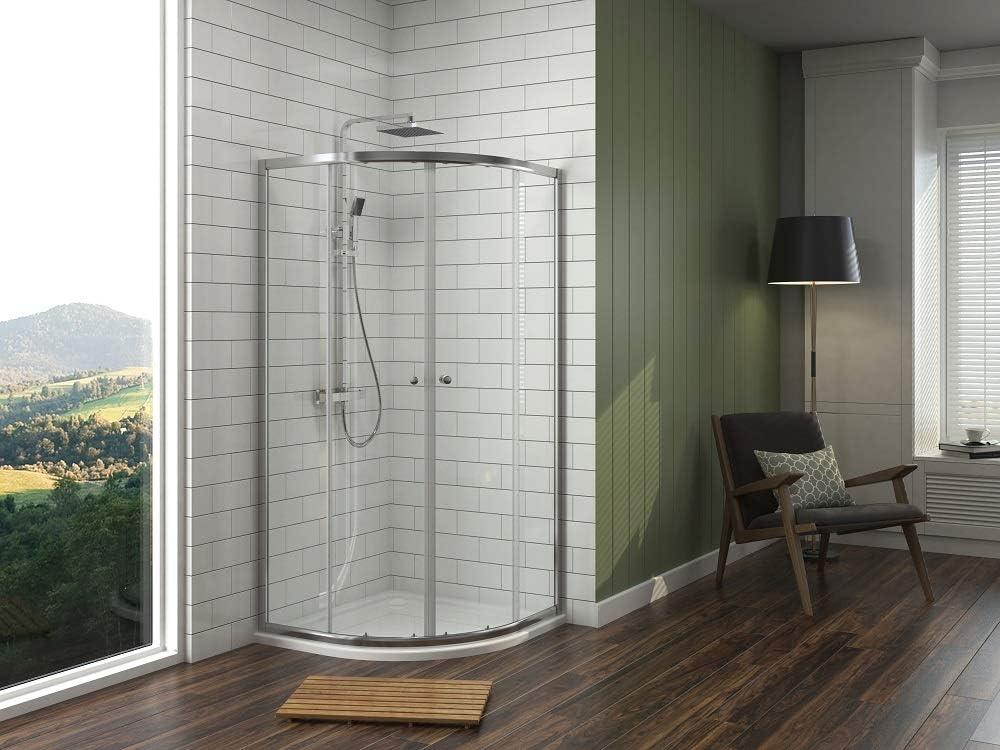 düravak cabinas de ducha redonda ducha puerta corredera Mampara de cristal cuarto circular (80 x 80 cm: Amazon.es: Bricolaje y herramientas