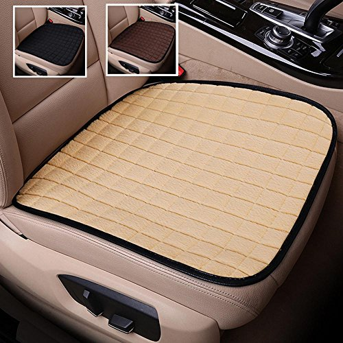 (Rayauto 2 Pack Winter Short Plush Seat Cushion Car Drivers Seat Covers Without Backrest Cushion Universal Car Interior Seat Protector Mat Pad)
