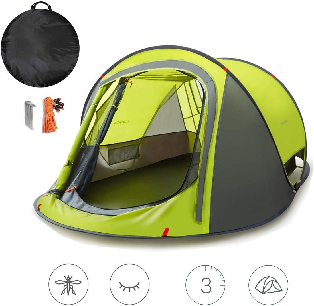 キャンプ、アウトドア旅行、ハイキング、バックパッキングやキャンプ用テント、ポップアップテント、2人のインスタント防水テント、3秒自動ファミリーLghtweightテント