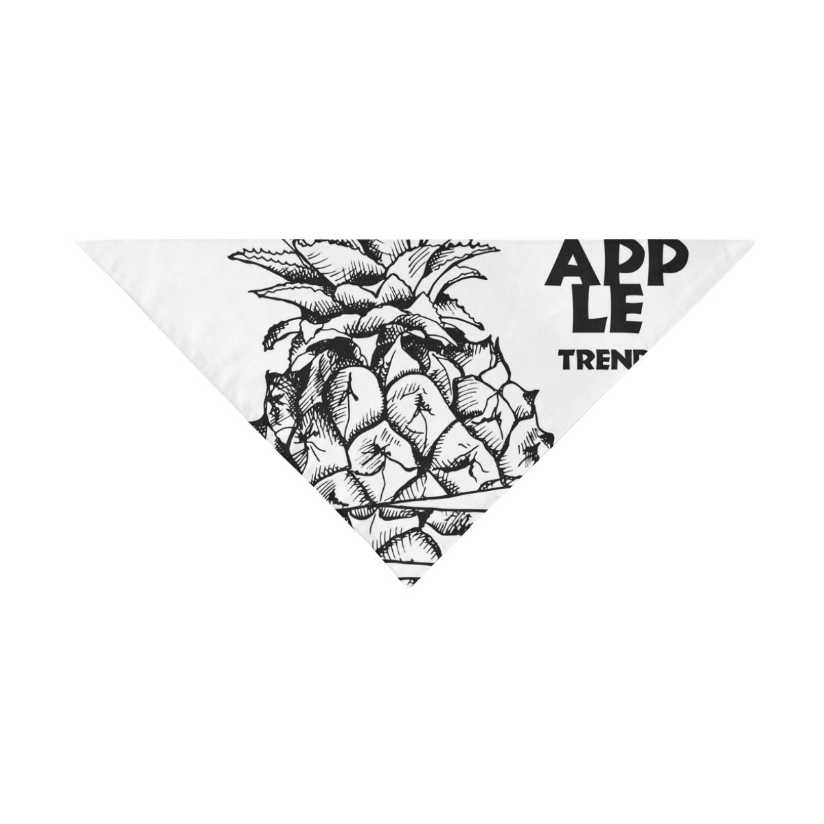 JTMOVING Dog Scarf Image Slices Pineapple Fruit Black Printing Dog Bandana Triangle Kerchief Bibs Accessories for Large Boy Girl Dogs Cats Pets Birthday Party Gift