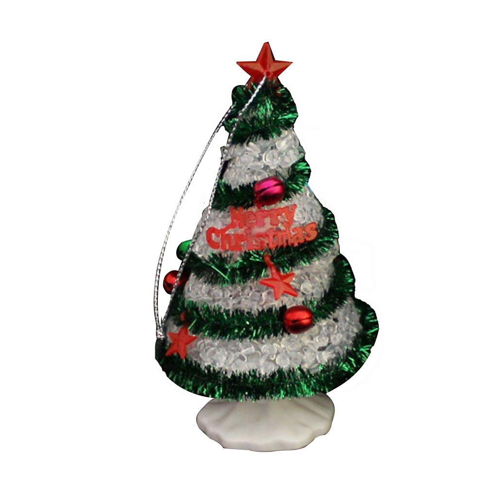 Aoklea Small Tree Plastic Luminous 7 Colour Led Christmas Tree