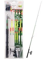 Guaranteed4Less Kids Fishing Set Complete Starter Kit Rod Reels Floats Lake River Children Adult