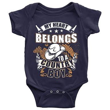 Amazoncom My Heart Belongs To A Country Boy Baby Bodysuit I Love