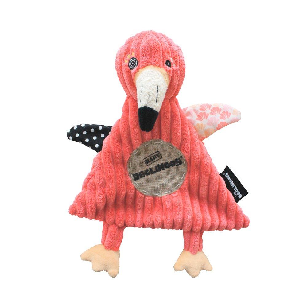 LES DEGLINGOS Peluche Baby Flamingos le Flamant Rose GLQDT 36725