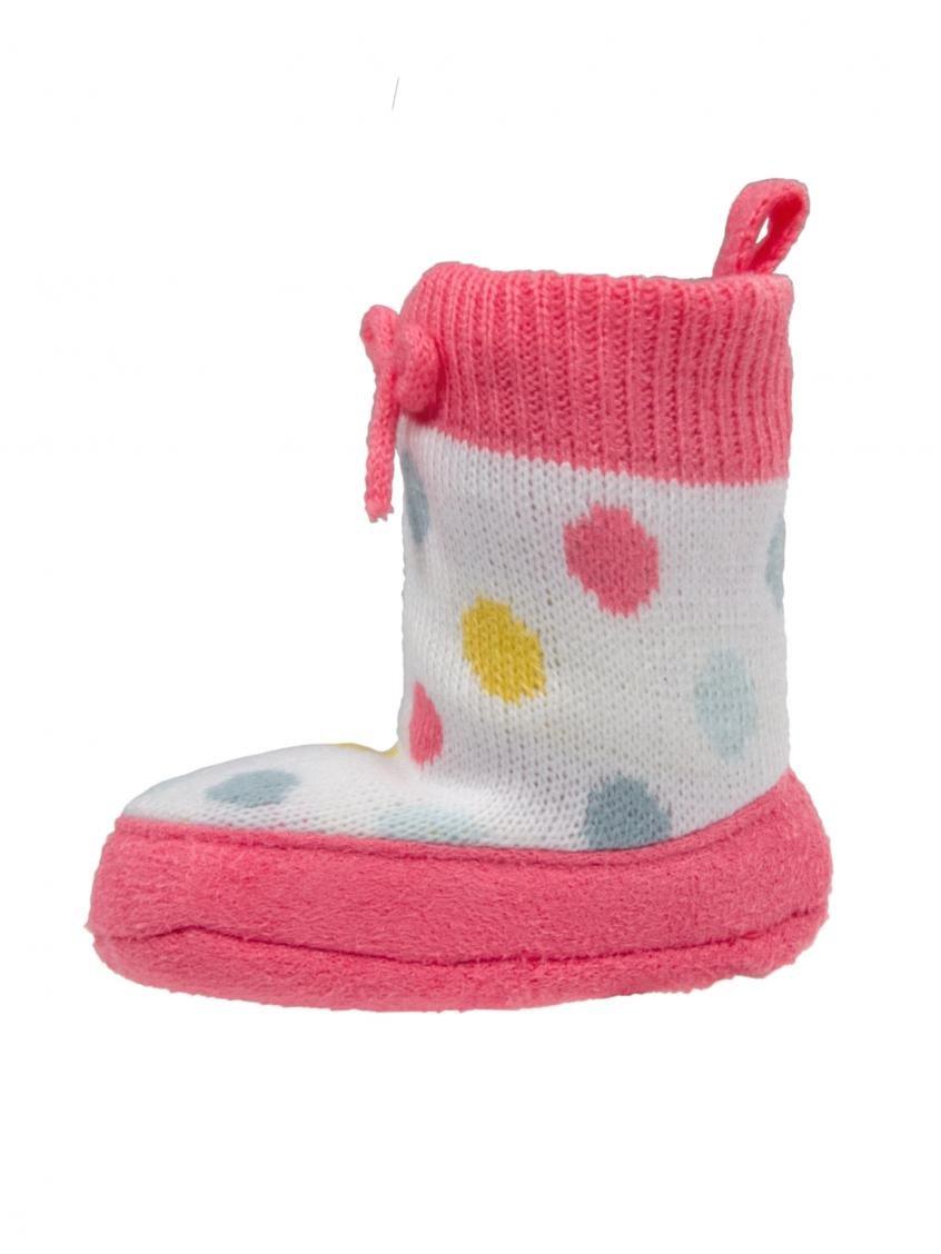 Pink 0-6 Mths Baby Girl Dot Slipper Socks by Goldbug