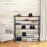 Blissun Shoe Rack 7tiers, 35 Pair Shoe Shelf Storage Organizer Cabinet (Black)