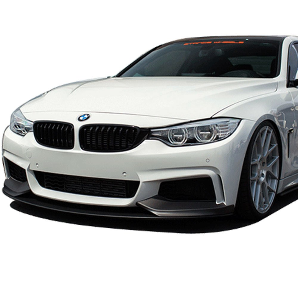 M-Performance Style Unpainted Raw Material Black PP Front Lip Finisher Under Chin Spoiler Add On by IKON MOTORSPORTS Front Bumper Lip Fits 2014-2016 BMW F32 4 Series 2015