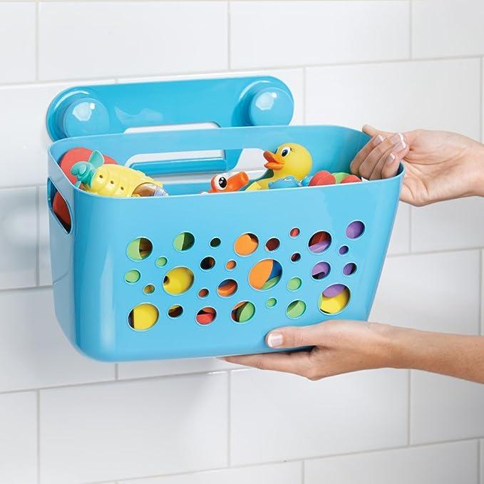 InterDesign Bubblz Cesta para ducha con ventosas   Cesta de baño ...