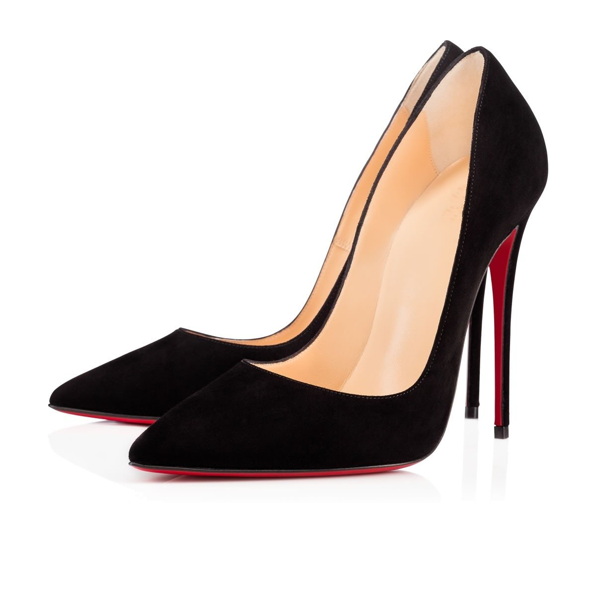 Chris-T Womens Formal Pointed Toe Heel Pumps Basic Shoes High Heel Toe Stilettos Sexy Slip On Dress Shoes Size 4-15 US B07F37L39Z 13 B(M) US|Black Suede/Red S0le(bottom) 20b65b