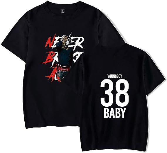 JUNG KOOK YoungBoy Never Broke Again T Shirt Tshirt Rapper DJ Tee for Men Women