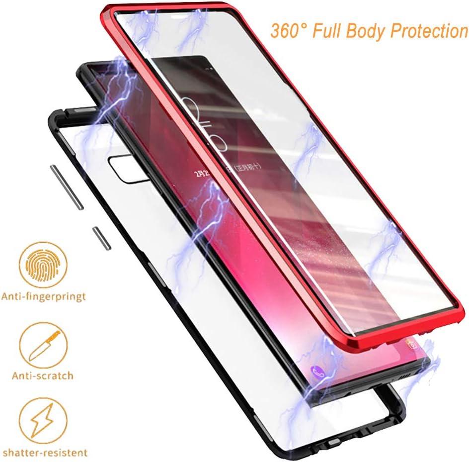 Kompatibilit/ät Mit Samsung Galaxy S10 Plus H/ülle Original Flip Magnetische Adsorptionsfunktion Handyh/ülle Harte PC PU-Lederh/ülle Spiegel Schutzh/ülle standfunction case Anti-Drop Backcover