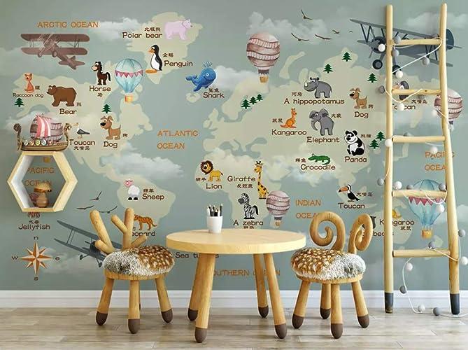 Pleasant Amazon Com Murwall Nursery Wallpaper For Kids World Map Download Free Architecture Designs Embacsunscenecom