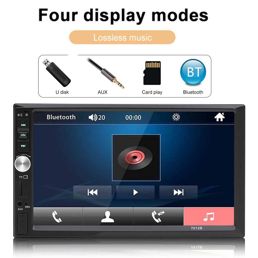 Eaglerich Car Audio Touch Screen Reversing Priority 7 inch HD 2 Din Universal Car MP5 MP4 USB TF Aux IN Bluetooth FM Radio Rear view Camara