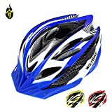 Wolfbike Unicase Bicycle Cycling PVC Helmet BMX MTB Off Road Safety Helmet Superlight, Blue