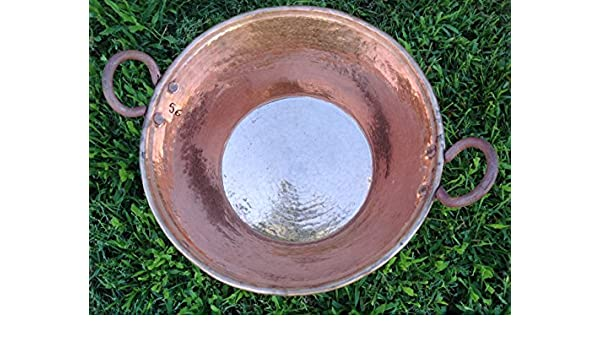 Amazon.com: HUGE Copper Cazo Mexican Cobre Hand Hammered Copper Pot 18