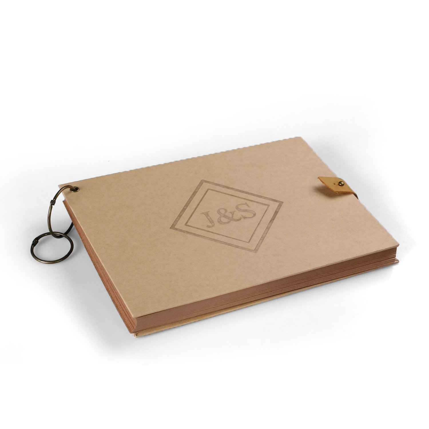 Cairnstone Personalised Scrapbook or Guestbook - Free Custom Engraving with Name, Logo or Design