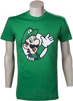 Nintendo T-Shirt -S- Luigi waving, grün: Amazon.es: Juguetes y juegos