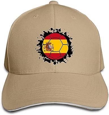 Gorra de béisbol para Mujeres y Hombres Bandera de España Balón de fútbol Algodón Trucker Hat Ajustable Retro Sports Fan Caps DIY 18762: Amazon.es: Ropa y accesorios