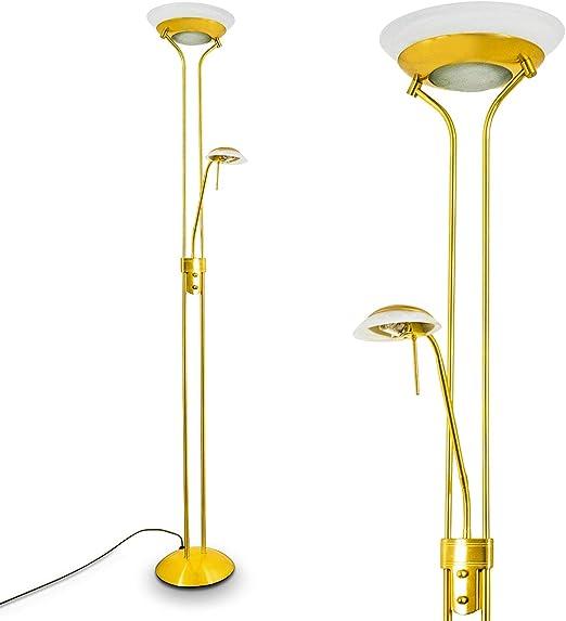 Techo Foco saltum de metal latón con brazo de lectura ajustable – Lámpara de pie para dormitorio – Salón – Oficina – Reflector y 022 son por separado, intensidad regulable y conmutación: Amazon.es: Iluminación