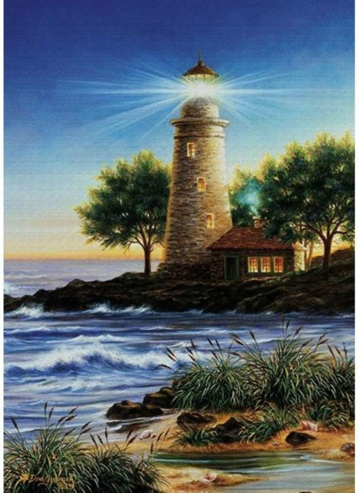 DIY 5D Diamond Painting SSZZoo Full Drill Seaside Lighthouse Diamond Embroidery Rhinestone Painting Cross Stitch Kit Wall Art Decor 5D Diamond Painting by Number Kits Home Decor