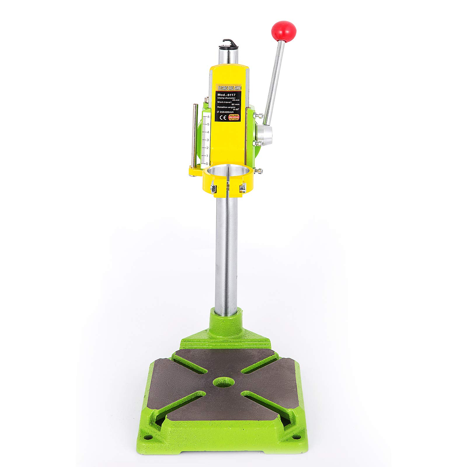 Happybuy Drill Press Stand 90 Degrees Rotary Drill Stand Holder 60mm Work Travel Repair Tool Clamp by Happybuy (Image #3)