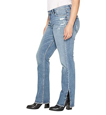 4c6db9f9 Silver Jeans Co. Women's Plus Size Avery Curvy Fit High Rise Bootcut Jeans  with Vent at Amazon Women's Clothing store: