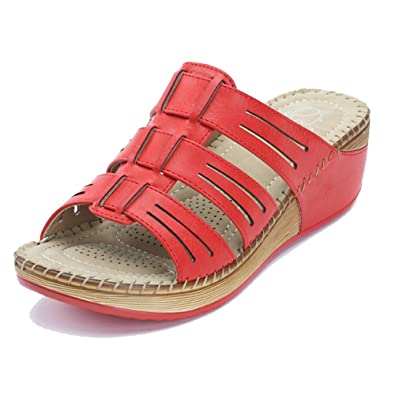 2017 Fashion Jambu Romance Wedge Sandal Red