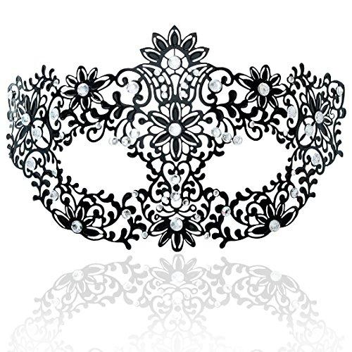 FaceWood Masquerade Mask for Women Ultralight Metal Mask