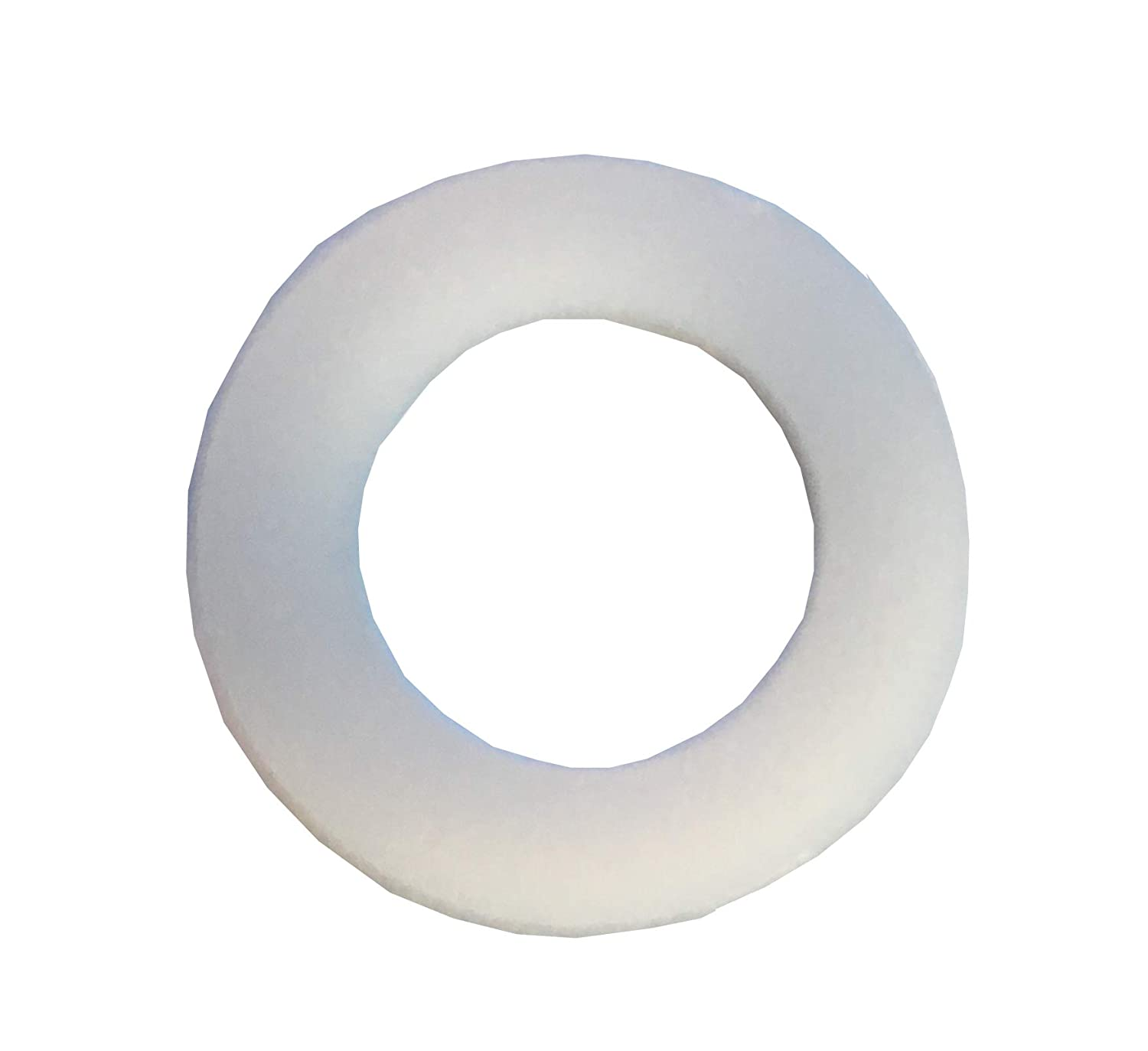 Clipsandfasteners Inc Clipsandfasteners 3//8-Inch Nylon Flat Washers .443-Inch I.D Pack of 50 .062-Inch Thick