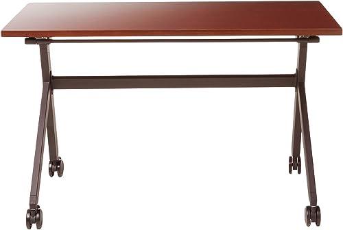 HON Assemble Flip Base Multi-Purpose Table, 48-Inch, Chestnut Black HBMPT4824P