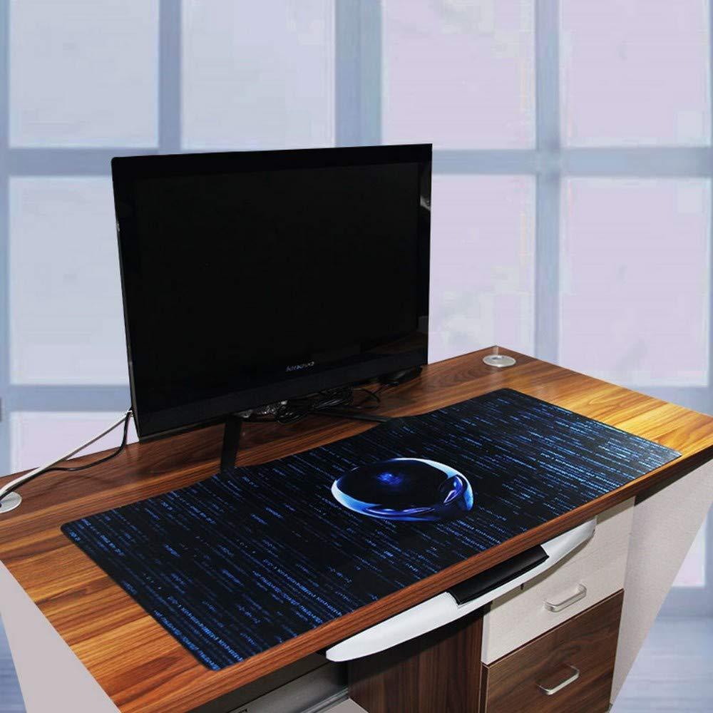SNTC Mauspad Mausmatte Erweiterte Gaming-     Mauspad Xxl Genähte Kanten Wasserdichte Basis Mousepad Keyboad-Matte 35,4 X 15,7 Alien-Kopf,A b54b37