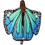 Bestoppen Child Kids Boys Girls Bohemian New Look Cute Butterfly Wings Shawl Scarves Fairy Ladies Girls Nymph Pixie Poncho Dresses Capes Stoles Accessory Party Show Costume for Girl